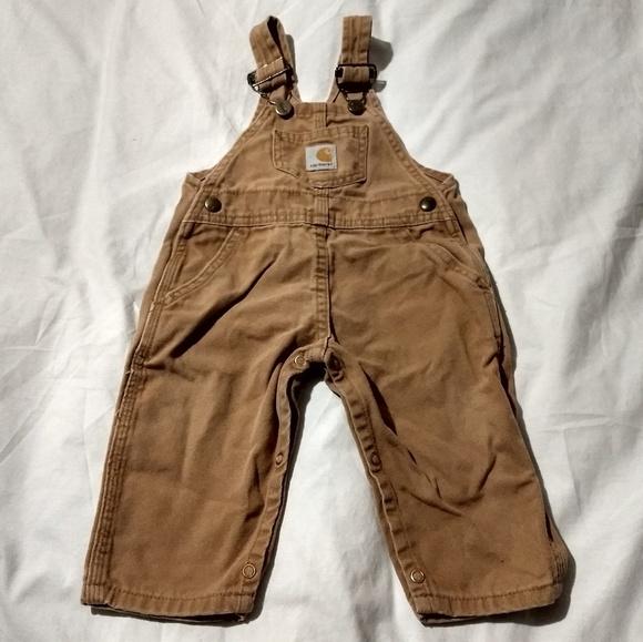 e89edfe1 Carhartt Bottoms   Toddler Boys Overalls   Poshmark